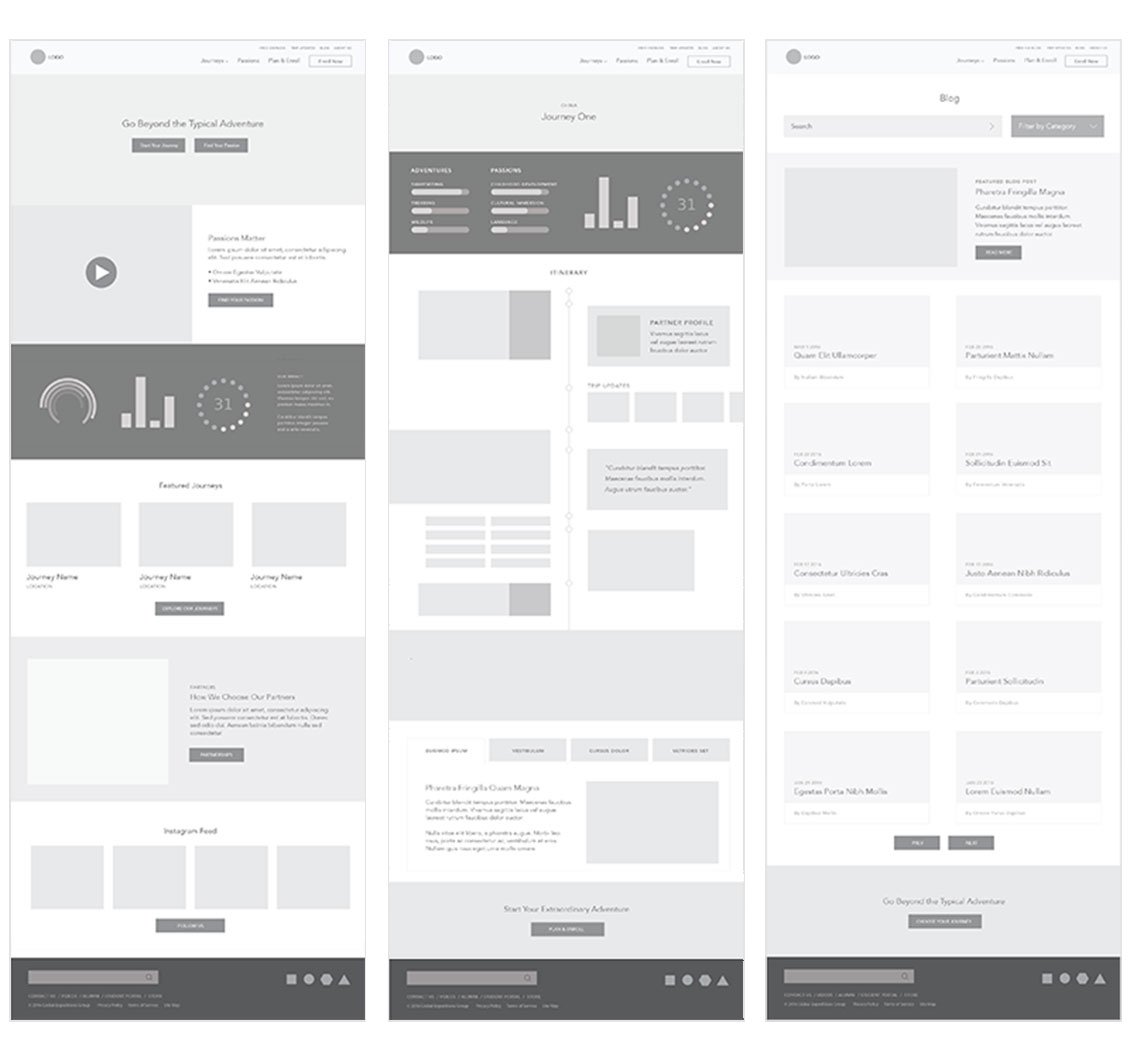 GoBeyond Wireframes