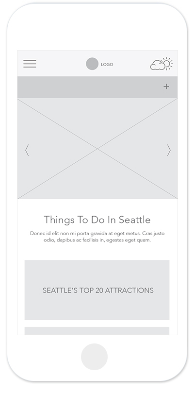 Visit Seattle Wireframe Things to Do
